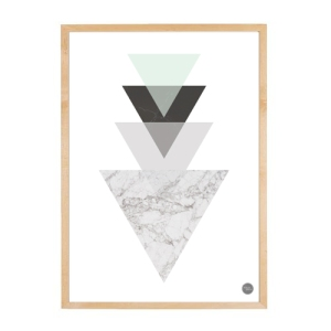 Geo Triangle Marble Print_House Amour_thumbnail